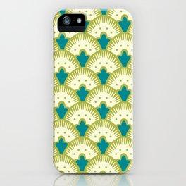 Fan Pattern Chartreuse iPhone Case