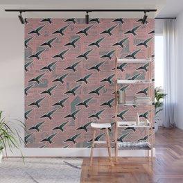 Swift bird vintage pattern Wall Mural