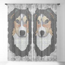 Zeke - mountain dog Sheer Curtain