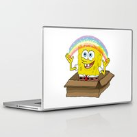 spongebob Laptop & iPad Skins featuring spongebob squarepants imagination by aceofspades81
