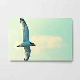 Minimalist Bird IV Metal Print