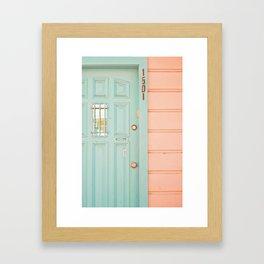 Pastel House Framed Art Print