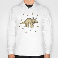 bedding Hoodies featuring Triceratops & Triangles by micklyn