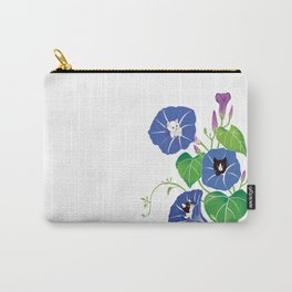 PeekABoo Cats in Flowers Morning Glory Carry-All Pouch