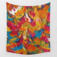 psychedelic Wall Tapestries featuring Psychedelic by DuckyB