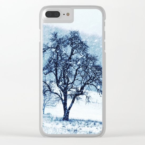 Old pear tree (cool edition) Clear iPhone Case