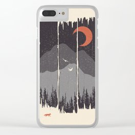 Winter Mountain Weather... Clear iPhone Case