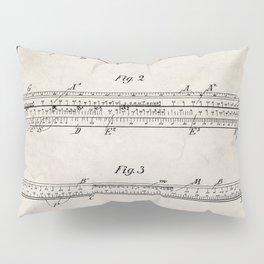 Engineering Patent - Engineers Slide Rule Art - Antique Pillow Sham
