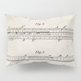 Engineering Patent - Engineers Slide Rule Art - Antique Pillow Sham