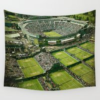 tennis Wall Tapestries featuring Wimbledon Tennis by BixAri