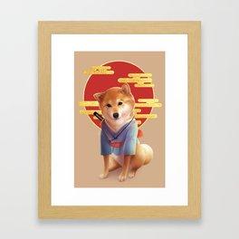 Samurai Shiba Framed Art Print