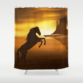 The wild mustang Shower Curtain