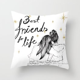 Friends For Life Throw Pillow