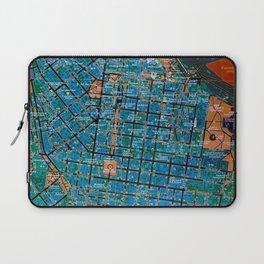 Odessa antique map, colorful mas, classic artwork Laptop Sleeve