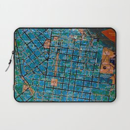 Odessa antique map, colorful mas, classic artwork Laptop Sleeve