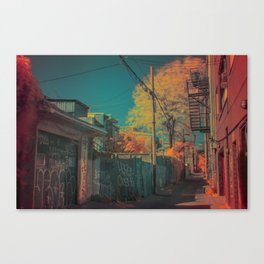 Montreal Alley Infrared 01 Canvas Print