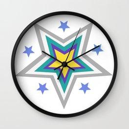 star pattern, shapes, christmas Wall Clock