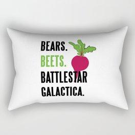 BEARS, BEETS, BATTLESTAR, GALACTICA Rectangular Pillow