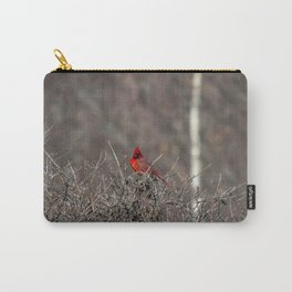 Cardinal in the bush Carry-All Pouch