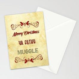 Merry Christmas ya filthy muggle Stationery Cards