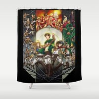 snk Shower Curtains featuring wir sind die Jager (we are the hunters) by ghostfire