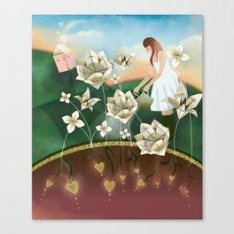 Origami Garden Canvas Print