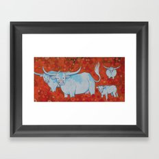 LONGHORNS Framed Art Print