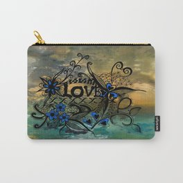 Abstract Acrylic Painting BLUE LOVE  Carry-All Pouch