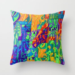 Horse in Stable Mode Throw Pillow