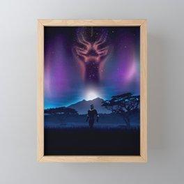 Black Panther Heaven Framed Mini Art Print