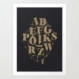 Type Splatt Art Print