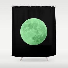 LIME MOON // BLACK SKY Shower Curtain