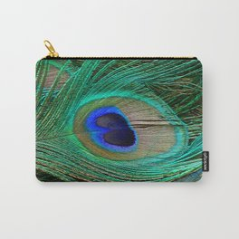 Peacock Feather Macro Design Carry-All Pouch