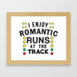 Romantic runs at the track Framed Art Print