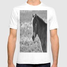 Pony on Exmoor Mens Fitted Tee White MEDIUM