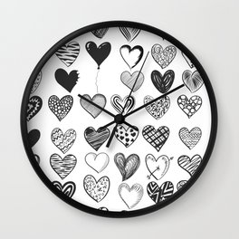 love in blackand white Wall Clock