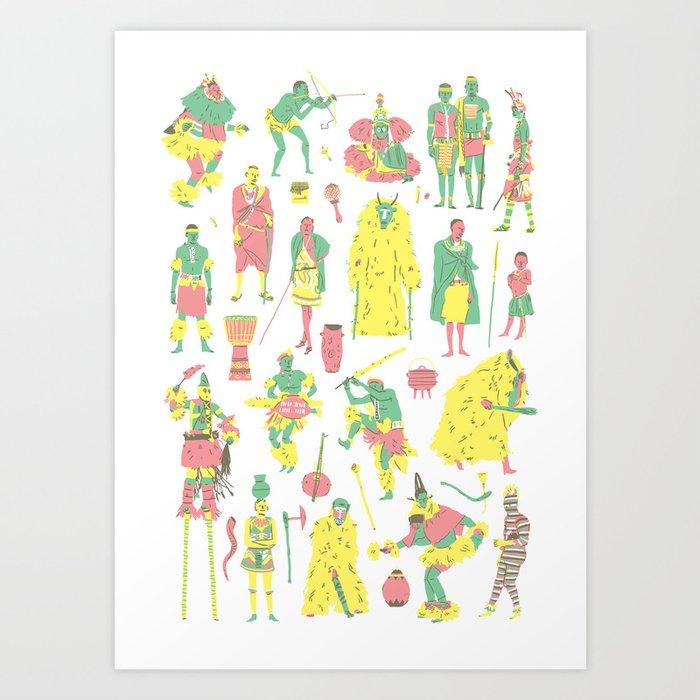 Afrique du Sud Art Print