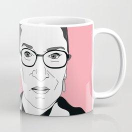 Ruth Bader Ginsburg, pink Coffee Mug