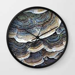 Turkey Tail Fungi Wall Clock