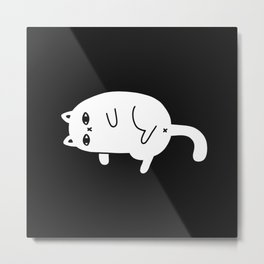 Meh Cat Metal Print