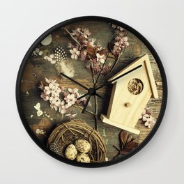 Easter composition Wall Clock