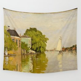 Claude Monet - Houses on the Achterzaan (1871) Wall Tapestry