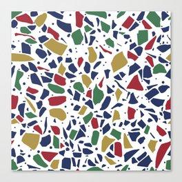 Terrazzo Spot Color on White Canvas Print