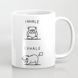 Inhale Exhale English Bulldog Coffee Mug