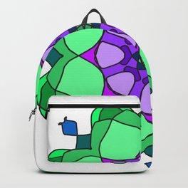 floral mandala gzhel effect Backpack