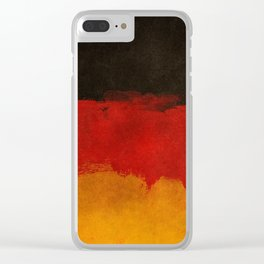 Watercolor flag of Germany Clear iPhone Case