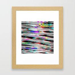 Glitch effect psychedelic background Framed Art Print