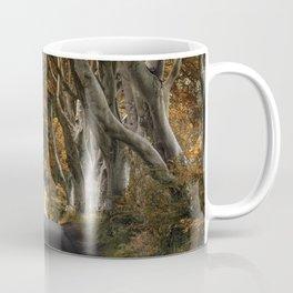 Dark Hedges alley in autumn Coffee Mug