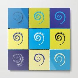 Spirals on Squares Metal Print