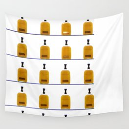 Glass Bourbon Bottles on Shelves Color Photograph Wall Tapestry